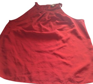 Banana Republic Top. Like New Red And Halter Style Tomato Red Halter Top