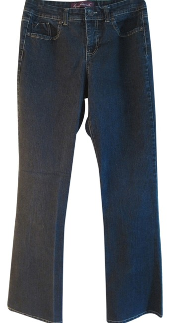 Item - Dark Blue Rinse With Patch Back Pockets 6 Straight Leg Jeans Size 29 (6, M)