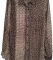 MICHAEL Michael Kors Silk Abstract Triangles Print Top Brown/white Image 0
