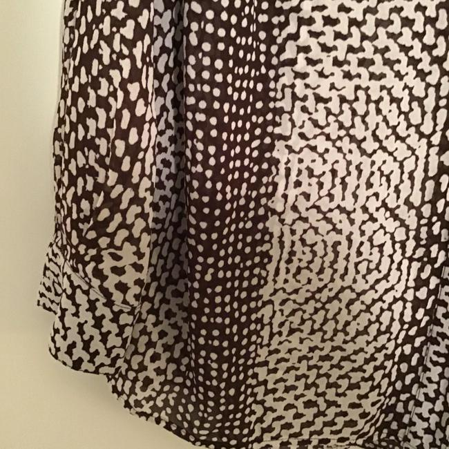 MICHAEL Michael Kors Silk Abstract Triangles Print Top Brown/white Image 4