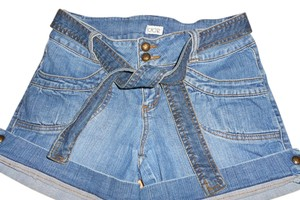 Cache Jean Cuffed Shorts BLUE