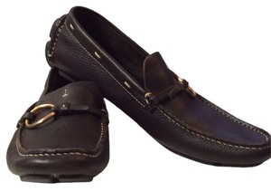 Prada Loafers Driving Mocs Brown Flats