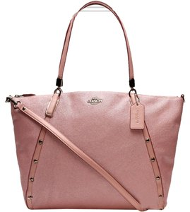 Coach Studded Satchel in pink