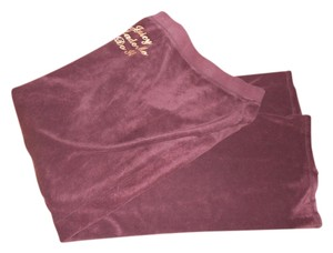 Juicy Couture Burgandy Wine Color Medium Athletic Pants DARK BURGANDY