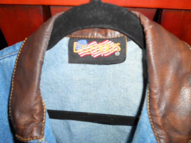 EASY RIDER Denium Leather Detail Vest