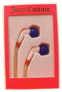 Juicy Couture NAVY BLUE Gold Sailor Girl Earbuds Headphones NEW NWT! NIB $38 YTRUT316