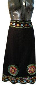 NY Collections Skirt blk/multi