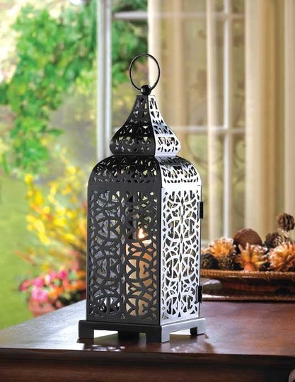 Brown 10 New Tall Black Moroccan Lanterns Candle Holders Reception Decoration