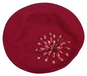 Unknown Hot Pink Embellished Hat