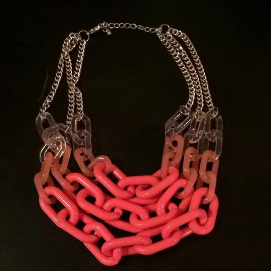 BaubleBar Coral Color Block Chain Necklace