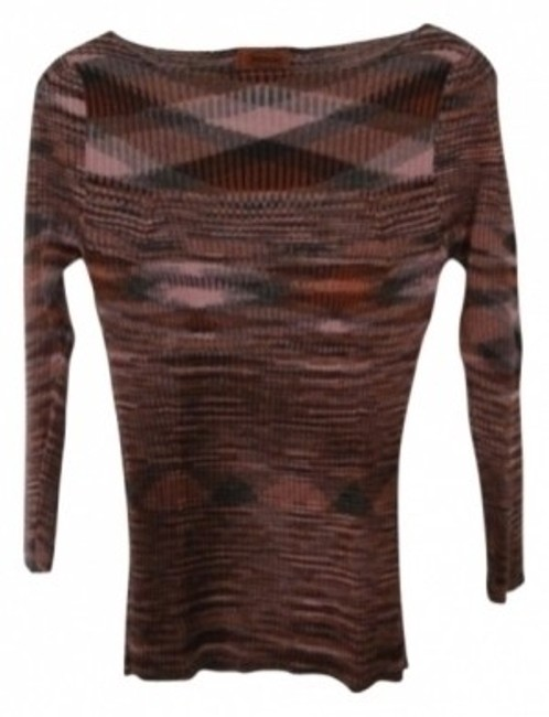 Preload https://item3.tradesy.com/images/missoni-pink-rust-gray-italian-cashmere-sweaterpullover-size-8-m-7247-0-0.jpg?width=400&height=650