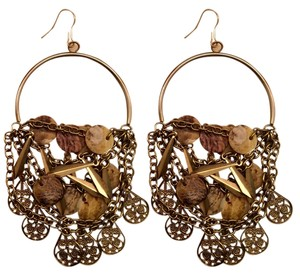 Bloomingdales Gold Rocker Chic Earrings