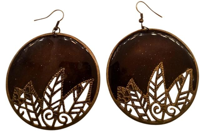 Item - Brown Circle Earrings Necklace