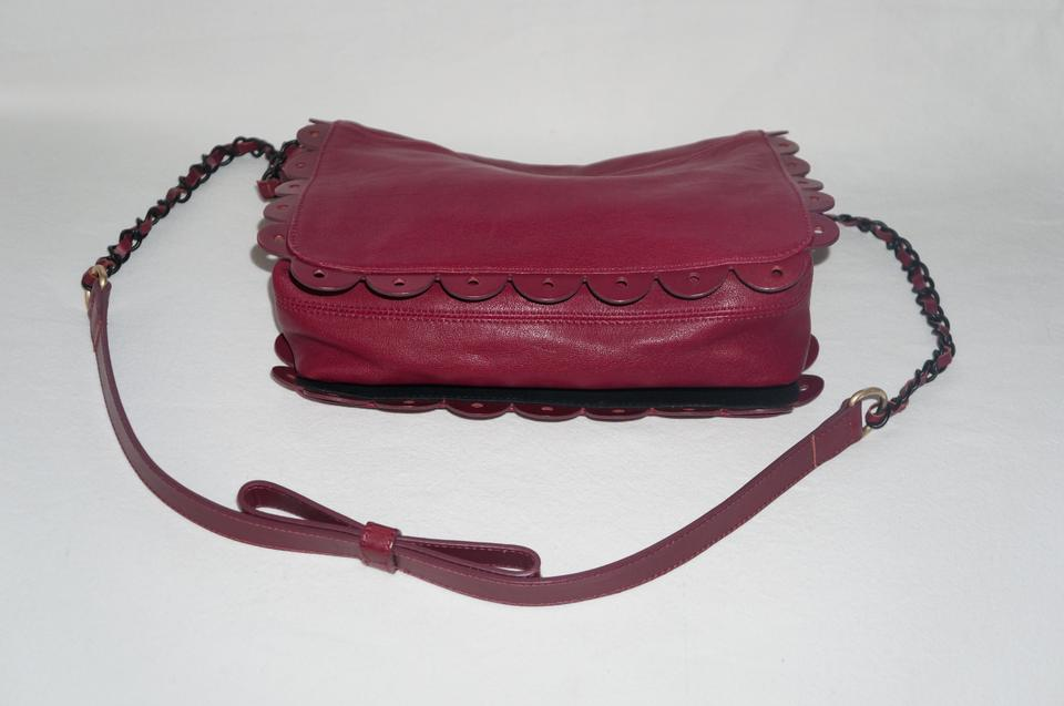 chloe replica bag - See by Chlo�� Chloe Poya Large With Scalloped Edging Burgundy Cross ...