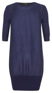 AllSaints short dress Navy All Saints Silk Merino Wool on Tradesy