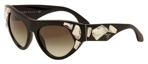 Prada New! Prada Cat Eye Crystals Black Sunglasses