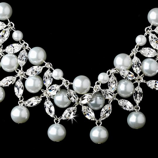 Elegance By Carbonneau White Pearl Wedding Jewelry Set
