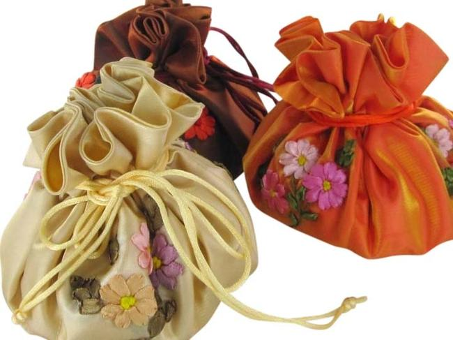 Item - You Pick The Color Jewelry Pouch Brocade Pockets Drawstring Travel Embroidered Jewelry Cosmetic Bag