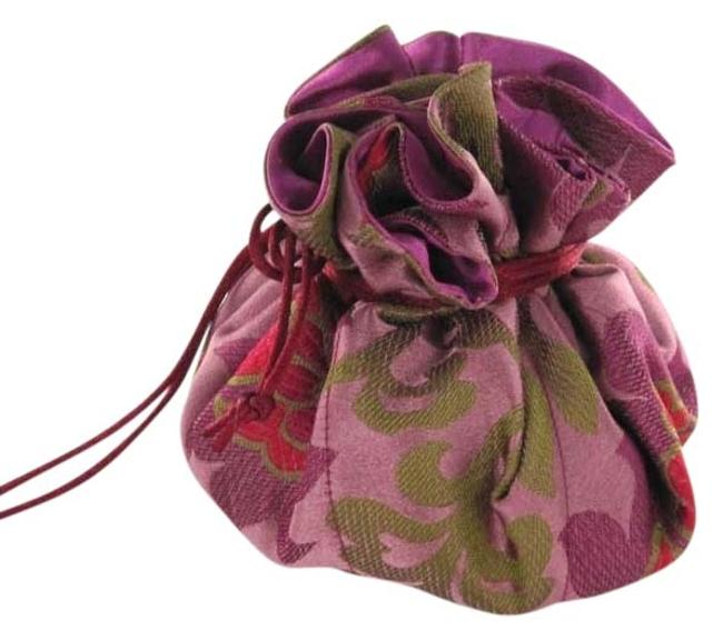 Item - You Pick The Color Jewelry Pouch Brocade Pockets Drawstring Travel Embroidered Jewelry