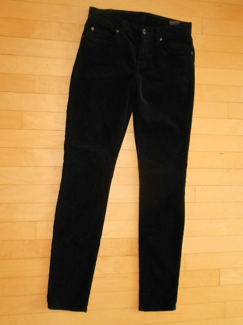 7 For All Mankind Size Corduroy Skinny Jeans-Dark Rinse