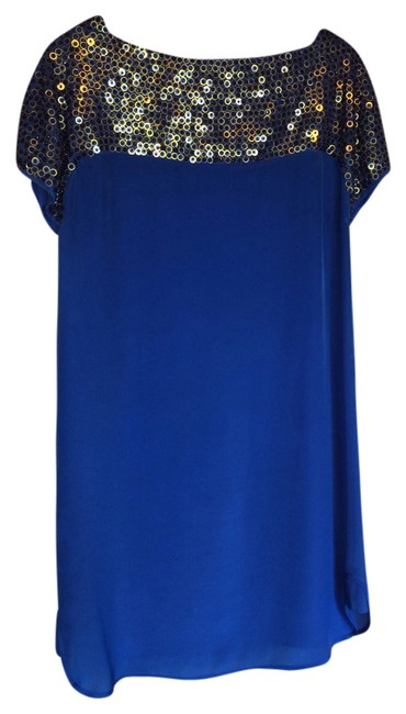 French Connection Sequin Crepe Dress