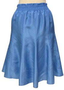 Banana Republic Silk Smock Waist Skirt blue