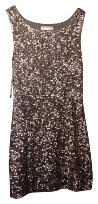 Item - Gold Sparkle Night Out Sexy Above Knee Cocktail Dress Size 6 (S)