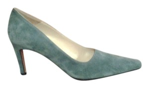 Salvatore Ferragamo Suede Teal Pumps