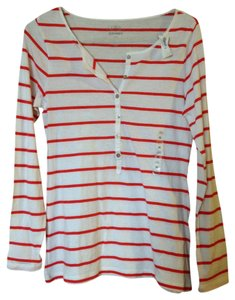 Old Navy T Shirt Red/White Stripe