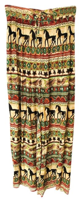 Phool Palazzos Ethnic Bohemian Wide Leg Pants Earth Tones