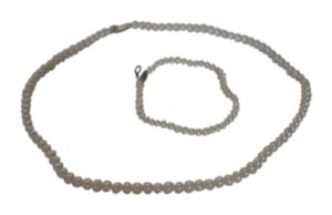 Unknown Beautiful Pearl Necklace and Bracelet set