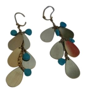 Golden Earrings Gold and Turquoise Earrings