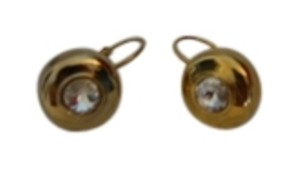 Unknown Gold Plated Earrings with Swarovski Crystals
