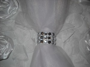 100 Real Rhinestone Wedding Reception Party Decoration Napkin Rings
