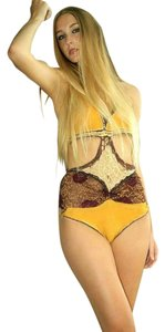 gold lace onepiece
