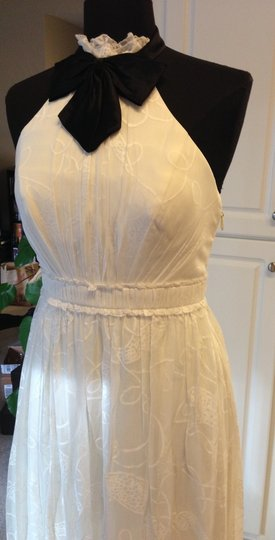 BHLDN Buttercream Silk and Cotton City Of Lights Modern Dress Size 0 (XS)