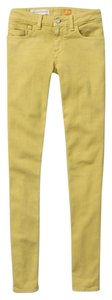Anthropologie Pilcro Charteuse Straight Leg Jeans
