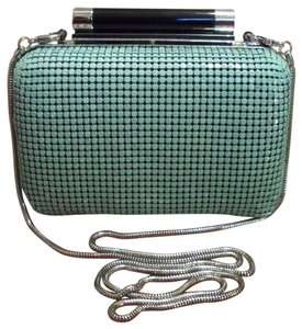 Diane von Furstenberg Dvf Tonda Small Chain Mail Metal Nwt New Teal Green Clutch