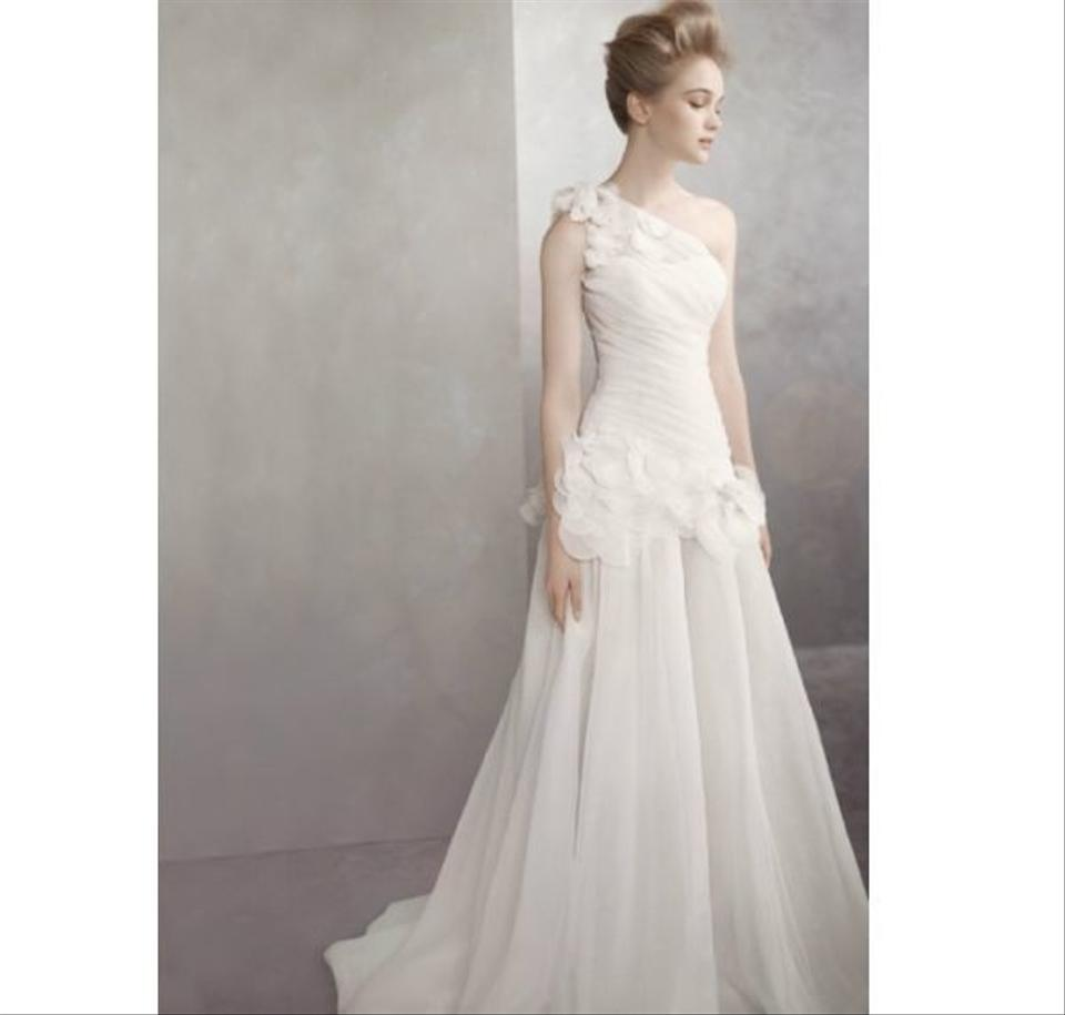 Vera Wang One-shoulder Basket-weave Organza Gown Style