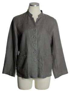 Eileen Fisher 100% Linen Gray Jacket