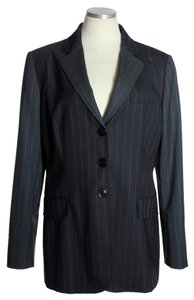 Moschino Wool Pinstripe Gray/Black Blazer