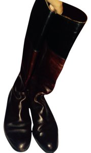Ann Taylor Riding Black Brown Riding . Knee High Brown black Boots