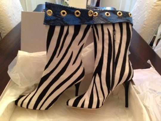 Jimmy Choo Blab / White / Blue Boots
