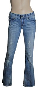 Miss Me Distressed Low-rise Boot Cut Jeans-Light Wash