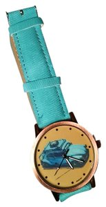 Other New Punch Buggy Volkswagen Wrist Watch Blue Gold Tone J1351