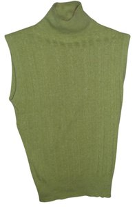 1 Madison Retro Vintage Soft Turtleneck Sleeveless Sweater