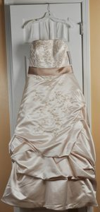 Oleg Cassini Ct203champagne Wedding Dress