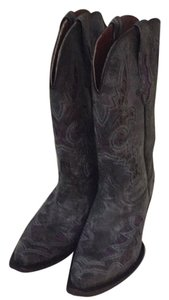 Lucchese Grey an purple Boots