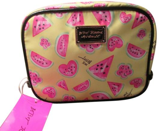 Preload https://img-static.tradesy.com/item/7265629/betsey-johnson-yellow-pink-melon-design-yellow-cute-watermelon-cosmetic-bag-0-1-540-540.jpg