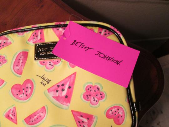 Betsey Johnson Brand new Betsy Johnson Cosmetic bag. Yellow/ cute watermelon design. Image 4